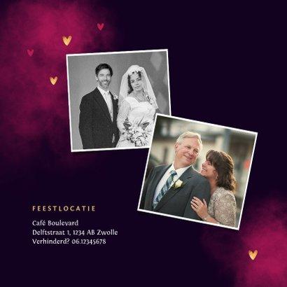 Jubileum uitnodiging true love neon hartjes 2