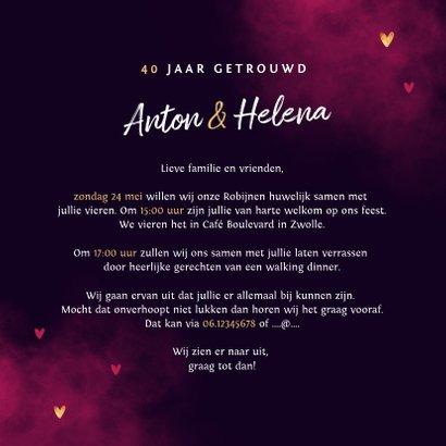 Jubileum uitnodiging true love neon hartjes 3
