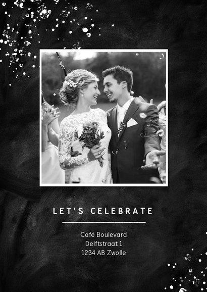 Jubileumfeest 10 jaar getrouwd uitnodiging krijt stijlvol 2