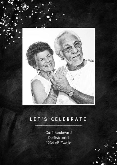 Jubileumfeest 50 jaar getrouwd uitnodiging krijt stijlvol 2