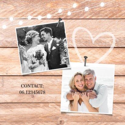 Jubileumfeest huwelijk hout krijtbord lampjes foto jaartal 2