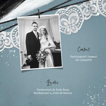 Jubileumfeest uitnodiging vintage kant verf foto 2