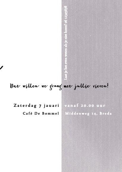 Jubileumkaart 10 jaar samen/getrouwd met krijtkleur paars 3