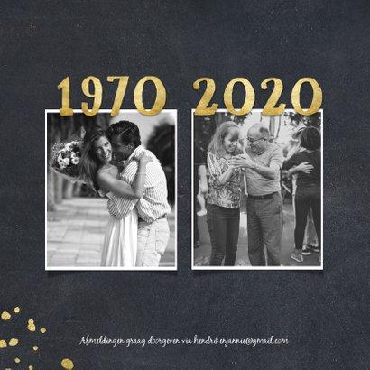 Jubileumkaart 1970 met foto's en gouden spetters 2