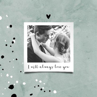 Jubileumkaart 25 jaar huwelijk groen stijlvol en hip 2