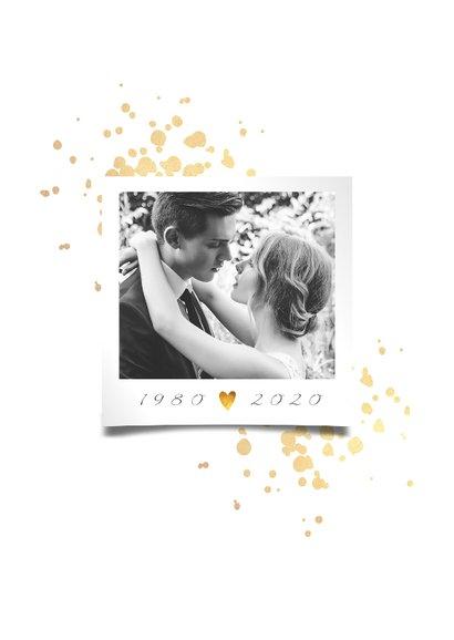 Jubileumkaart 40 jaar huwelijk goudlook klassiek 2