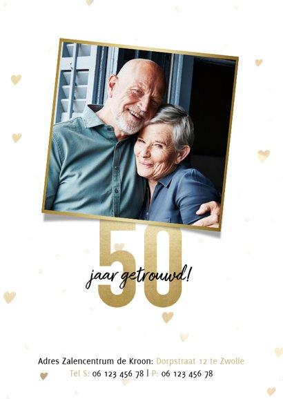 Jubileumkaart 50 jaar getrouwd gouden jaartallen 1970 - 2020 2