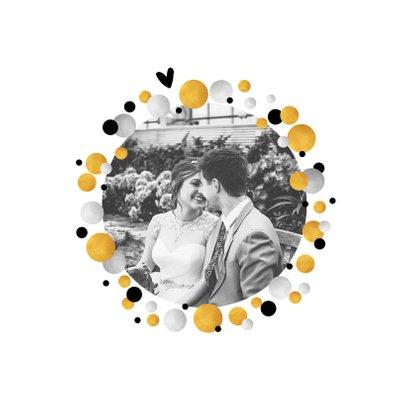 Jubileumkaart 50 jaar uitnodiging feestelijk met confetti 2