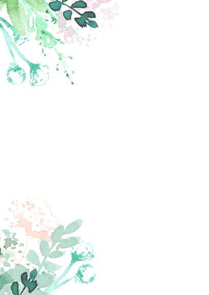 Jubileumkaart aanpasbaar, met hartje van bloemen 2