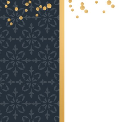 Jubileumkaart barok met confetti 2
