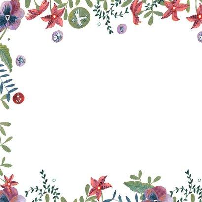 Jubileumkaart bohemian bloemen 2