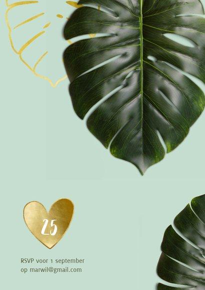 Jubileumkaart botanisch achtergrondkleur en jaar aanpasbaar 2