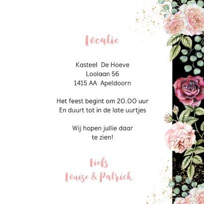 Jubileumkaart botanische rozen aquarel 3