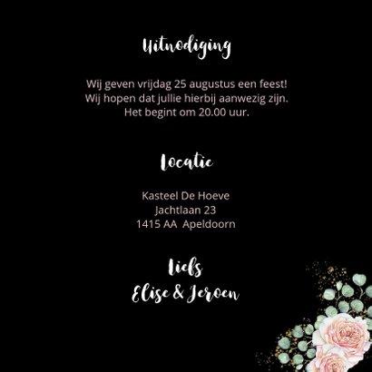 Jubileumkaart botanische rozen hart 3