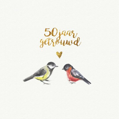 jubileumkaart confetti 50 jaar getrouwd 2