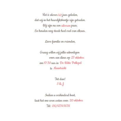 Jubileumkaart feest 40 roodborstje 3