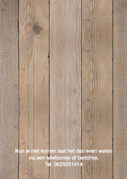 Jubileumkaart fotocollage houtlook 2