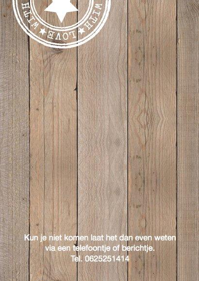 Jubileumkaart fotocollage mint houtlook 2