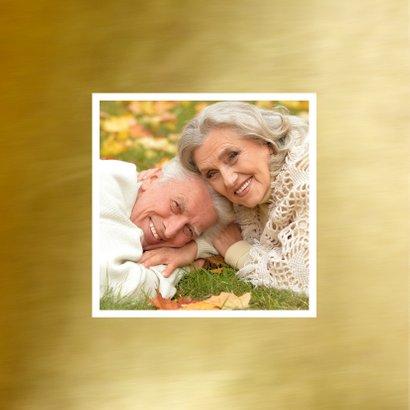 Jubileumkaart goud fotocollage 2