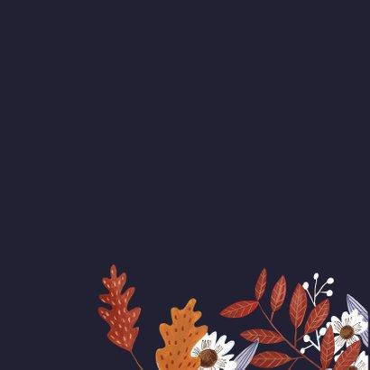 Jubileumkaart herfstbladeren 2
