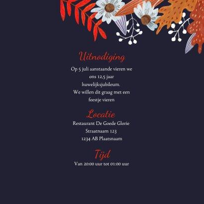 Jubileumkaart herfstbladeren 3