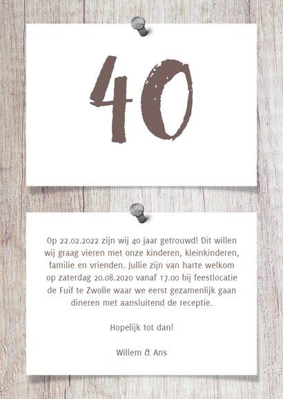 Jubileumkaart hout met fotocollage en spijkers 3