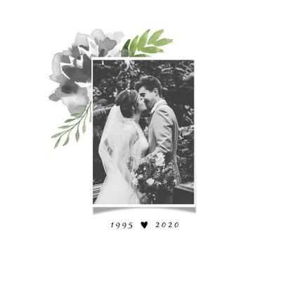 Jubileumkaart huwelijk bloemen stijlvol en hip 2