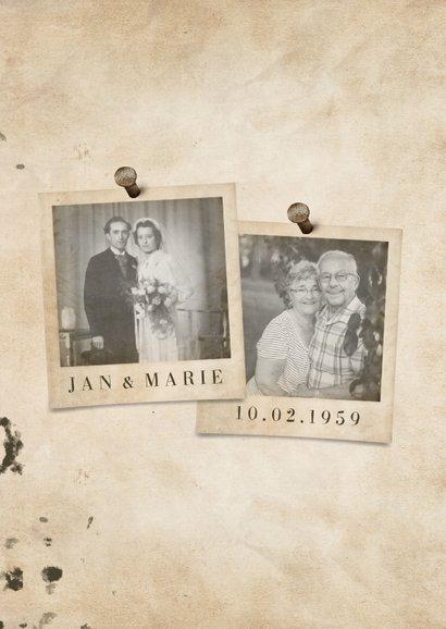 Jubileumkaart 'jubileum' vintage met getal en foto's 2