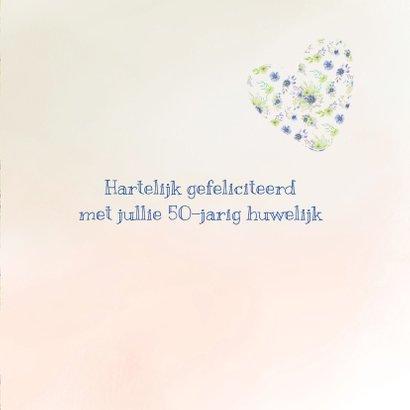 Jubileumkaart lentebloemen 3