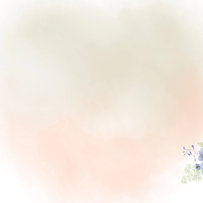 Jubileumkaart lentebloemen Achterkant