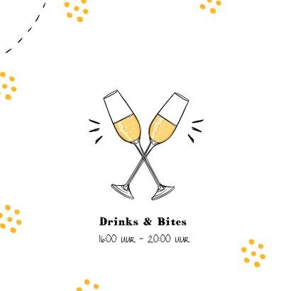 Jubileumkaart medewerker x jaar in dienst champagne feest 2