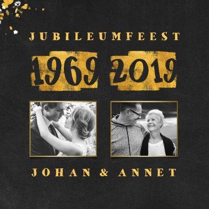 Jubileumkaart met foto en goudlook 1969/2019 2