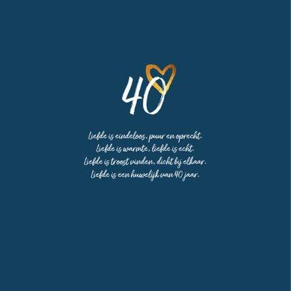 Jubileumkaart met goud en foto stijlvol en hip  2