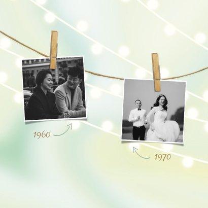 Jubileumkaart met lampjes, foto's en knijpers 2