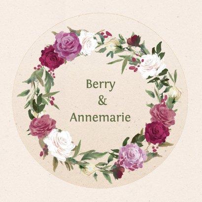 Jubileumkaart met rozenkrans 2