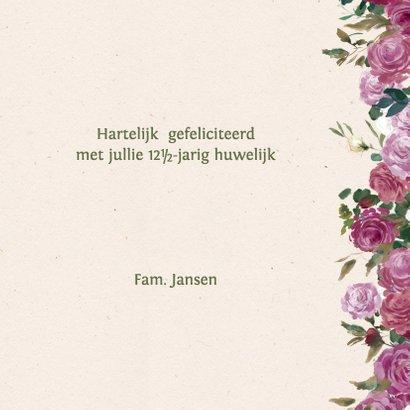 Jubileumkaart met rozenkrans 3