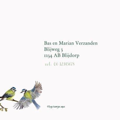 Jubileumkaart Romantische vogels 2
