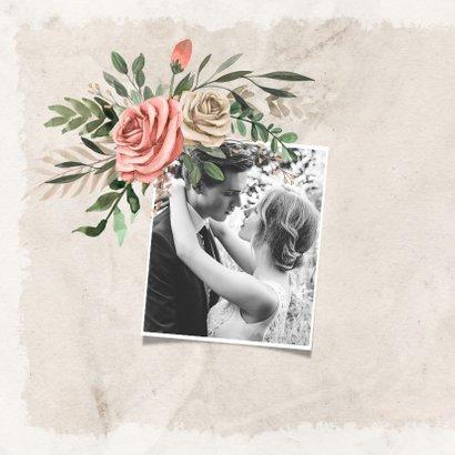 Jubileumkaart vintage en stijlvol met bloemen 2