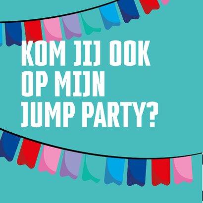 Jump XL kinderfeest uitnodiging Jongen/Meisje 2