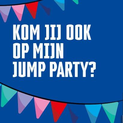 Jump XL kinderfeest uitnodiging Jongen 2