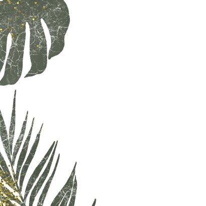 Jungle kerstkaart met goud en grunge 2