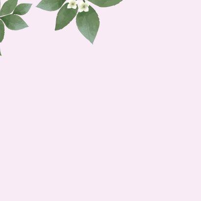 Just married - botanische huwelijkskaart 2