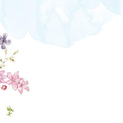 Kaart bloemen in klomp voor opa en oma 2