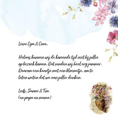 Kaart bloemen in klomp voor opa en oma 3