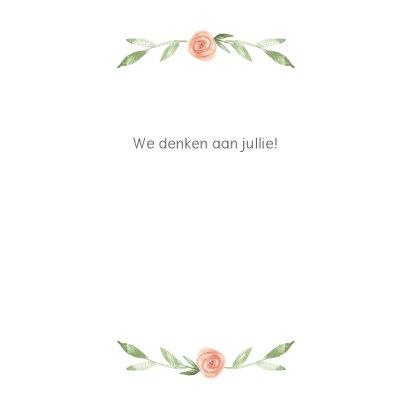 Kaart bloemenkrans, bijbeltekst naar keuze 3