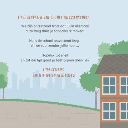 Kaart namens team leerkrachten voor alle leerlingen thuis 3