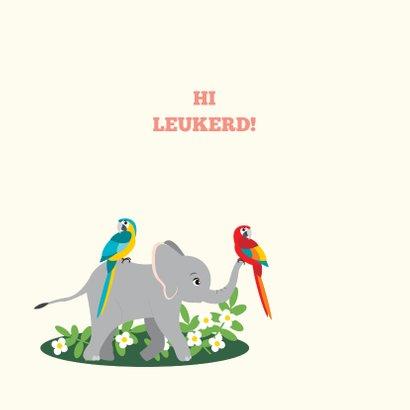 Kaartje met lieve jungledieren die hi zeggen 2