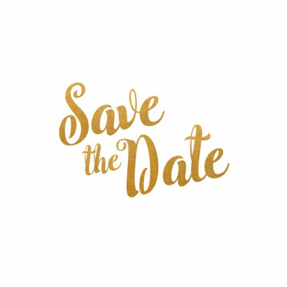 Kalender goud Save the Date - BK 2