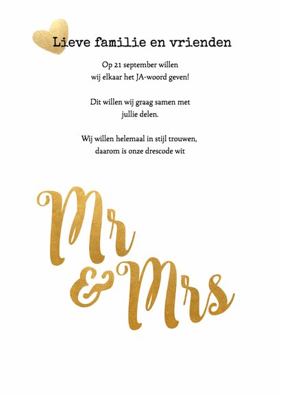 Kalender Mr & Mrs goud - BK 2
