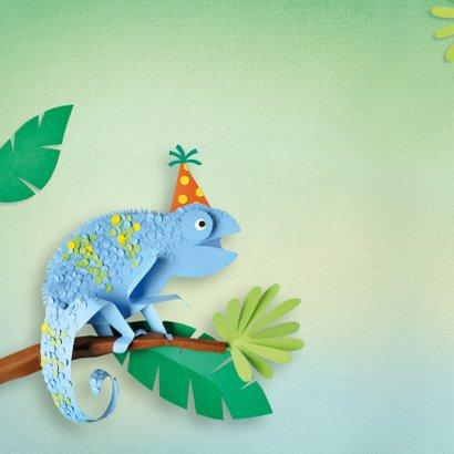 Kameleon verjaardagskaart 2